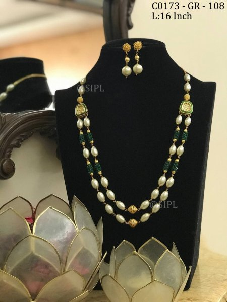 Designer Ethnic Look Pearl Mala Set