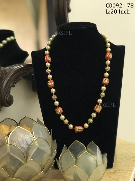 Beautiful Meenakari Stone Mala