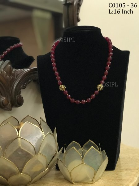 Amazing Ruby Color Stone Mala