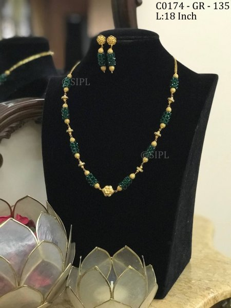 Beautiful Gold Plated Mala Set