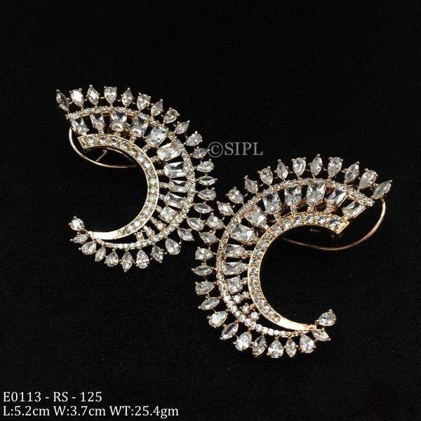 Designer light weight Sparkling CZ Stone Earring
