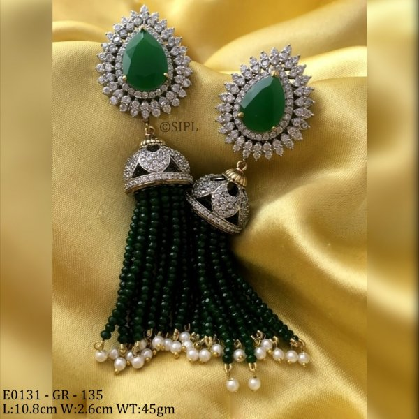 Ethnic Modern American Diamond Earring