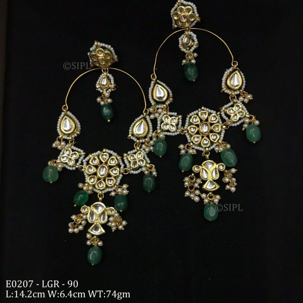 Amazing Design Long Kundan Earring