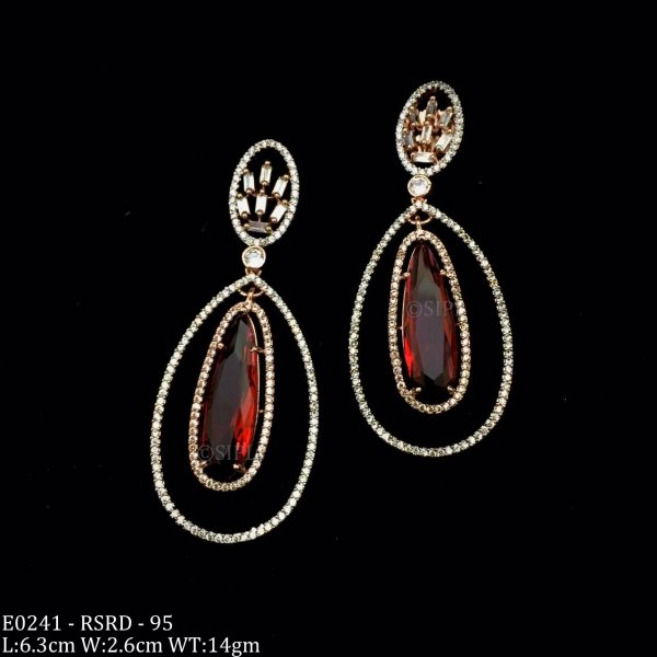 Ethnic Design Light Weight American Diamond Earring