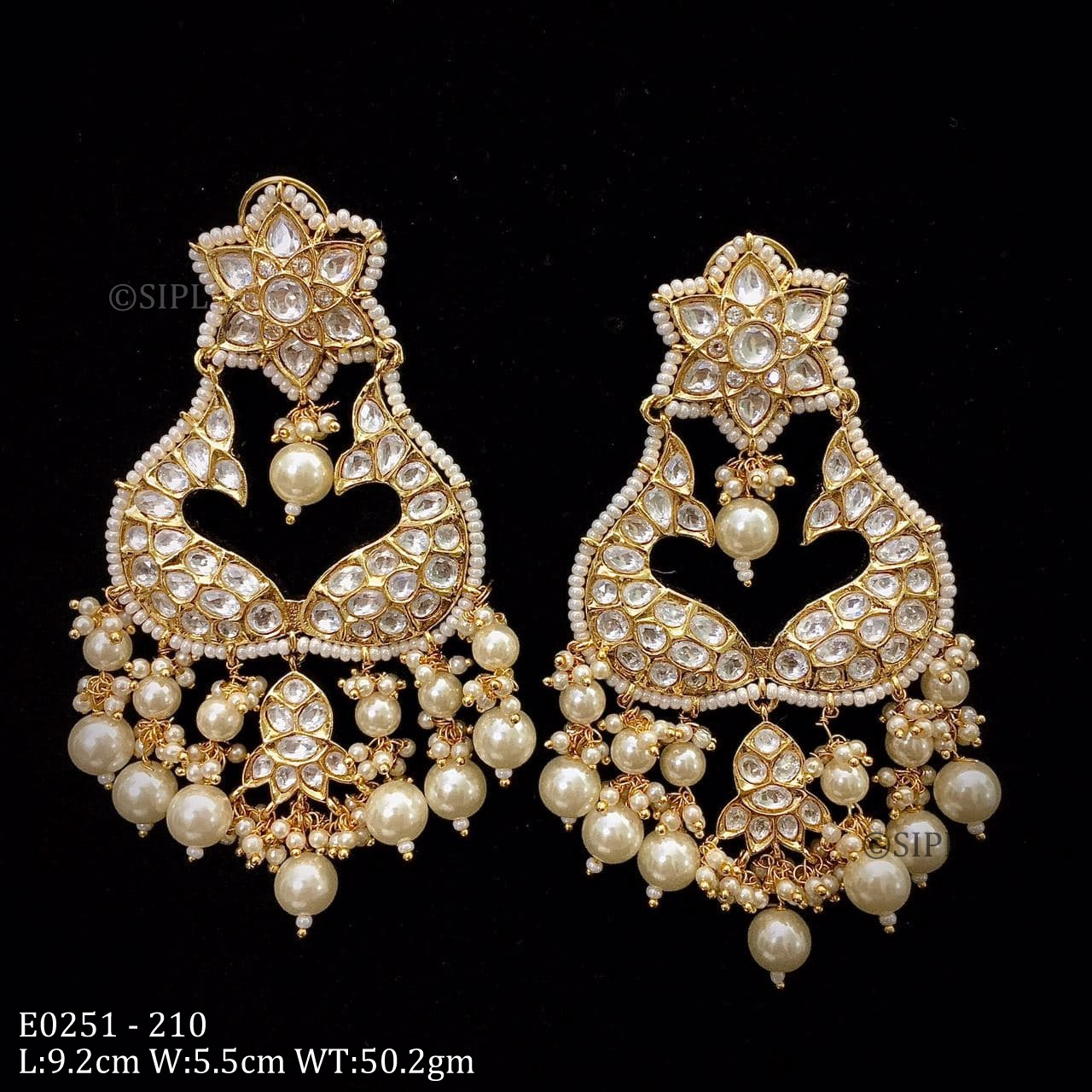 SIPL Fashion Jewellery Uncut Kundan Polki Earring