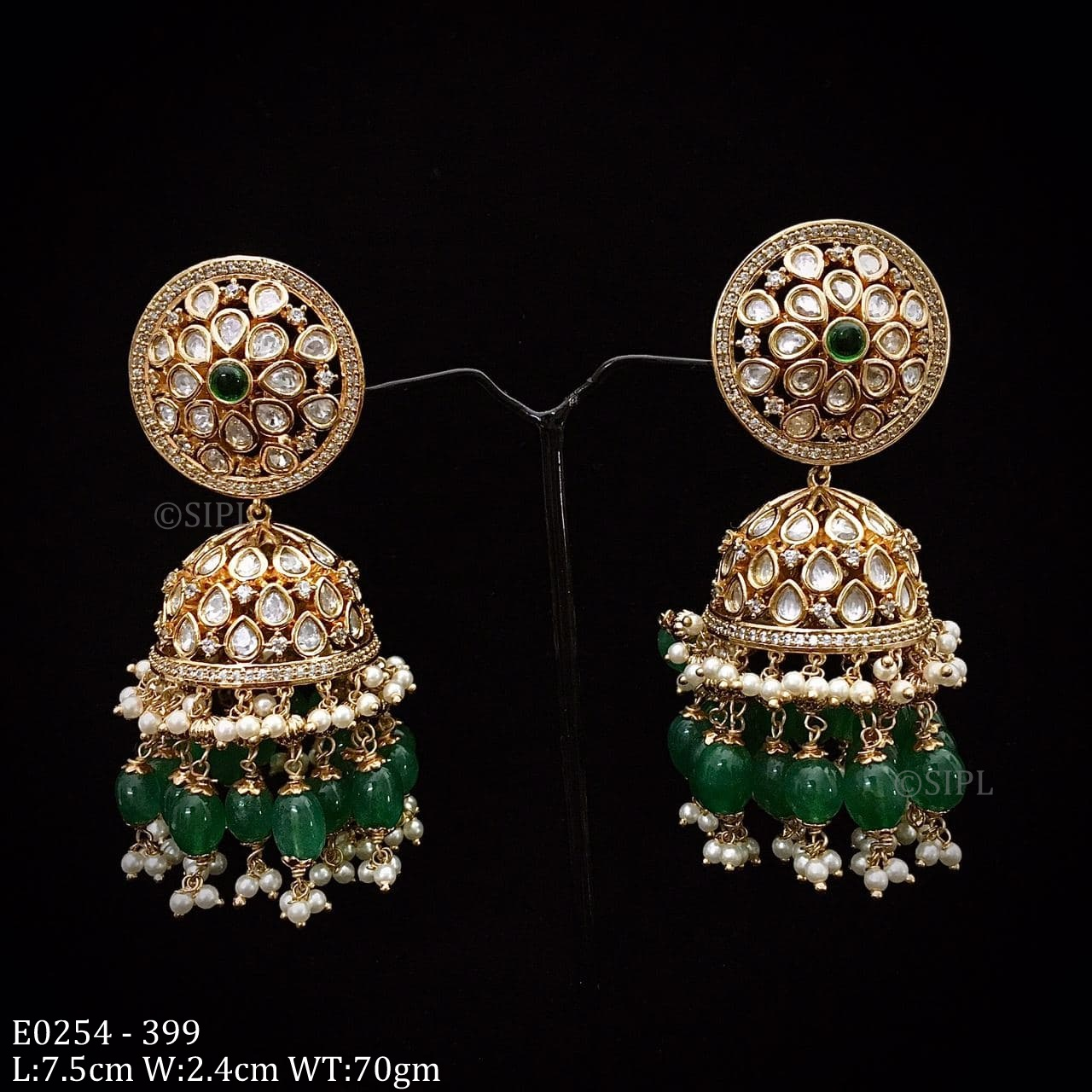 High Quality Uncut Kundan Jhumka