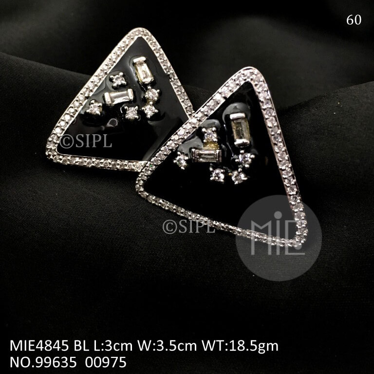 Triangle Stud out Earring