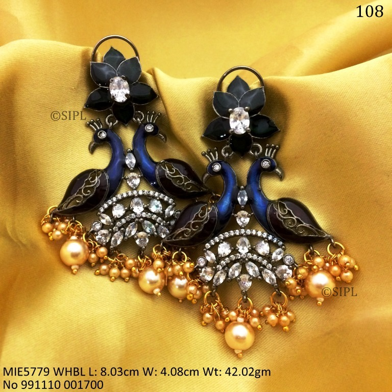 Beautiful Peacock Design Earring