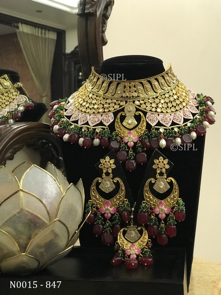 Kundan Meenakari Handmade Necklace Set