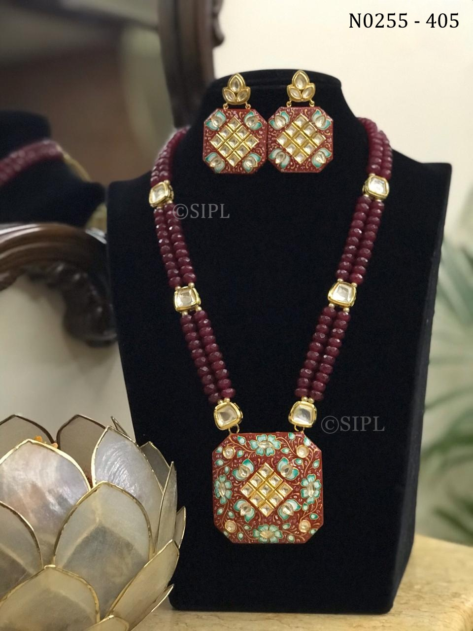 Beautiful Tanjore Style Necklace Set