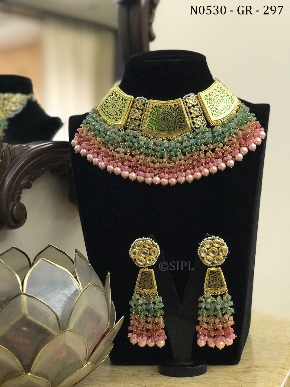 Beautiful Handmade Thewa Style Necklace Set