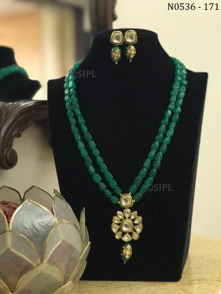 Beautiful Ahmedabadi Kundan Necklace Set
