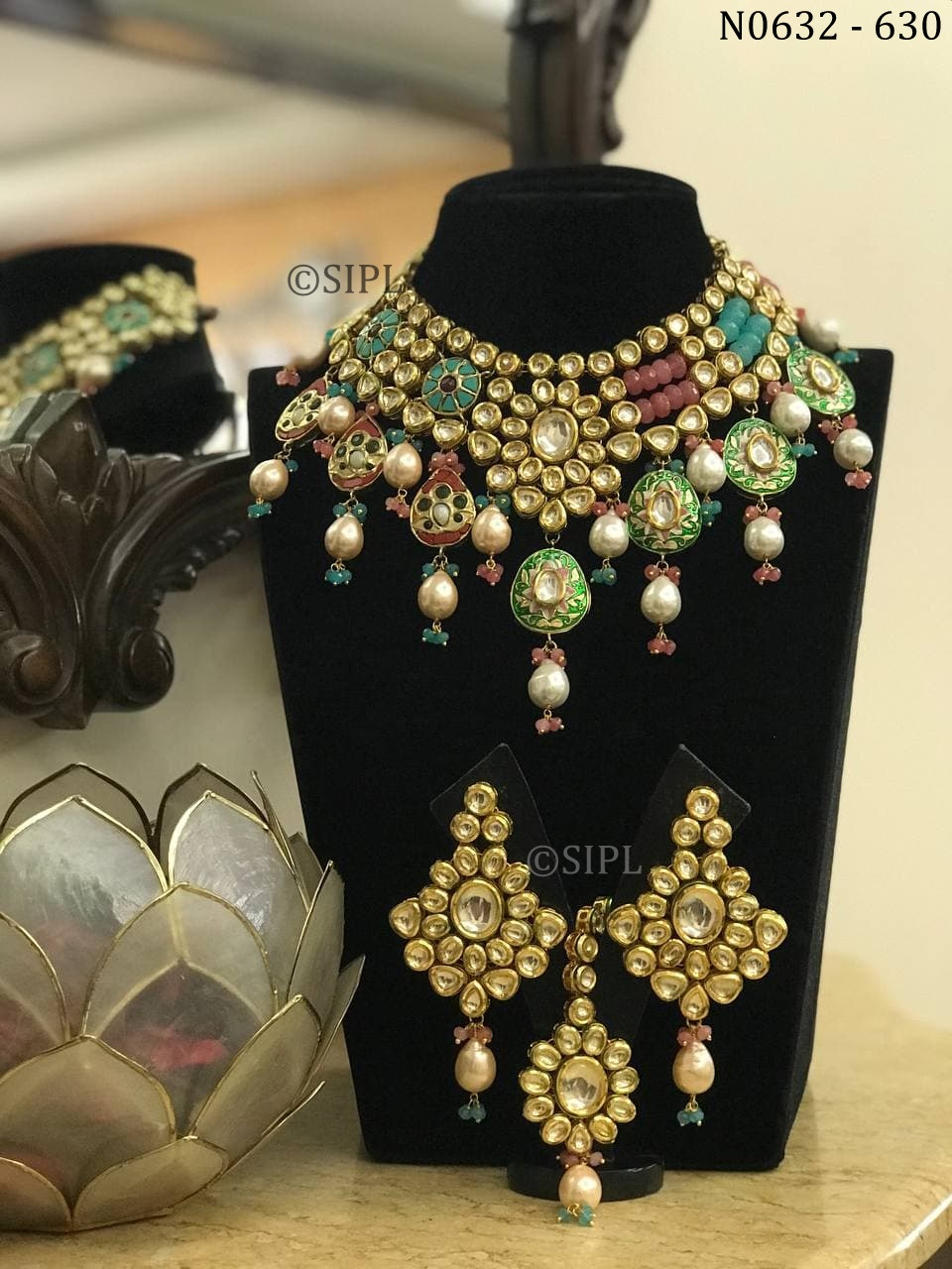 Exclusive Designer Kundan Necklace Set