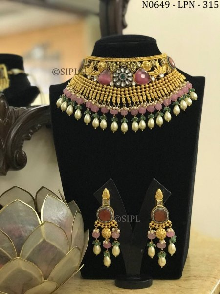 Beautiful Hand Crafted Desginer Necklace Set