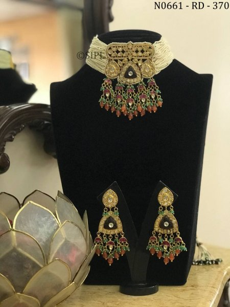 Amazing Design Kundan Polki Necklace Set