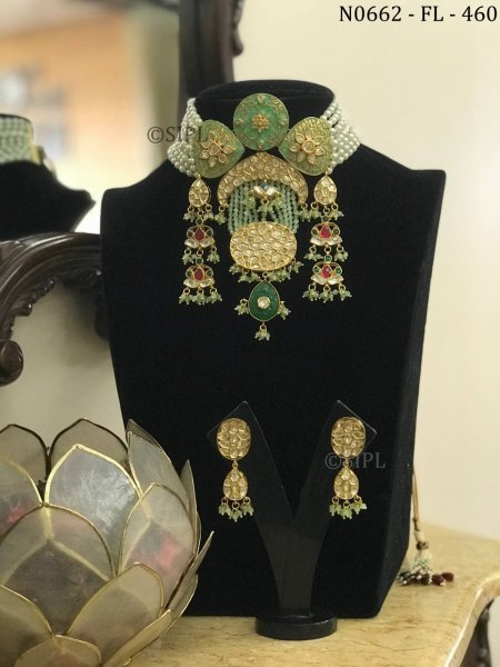 Designer Meenakari Necklace Set