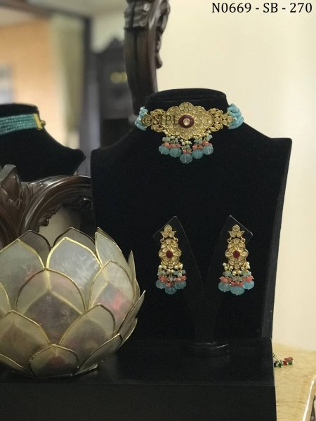 Amazing Design Kundan Polki Choker Set