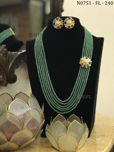 Beautiful Design Handmade Side Necklace Set