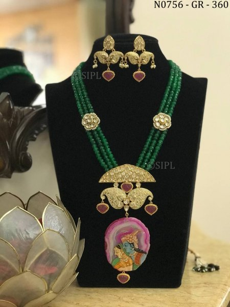 Beautiful Radha Krishan Handmade Necklace Set