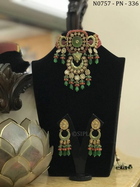 Classic Design Kundan Polki Necklace Set