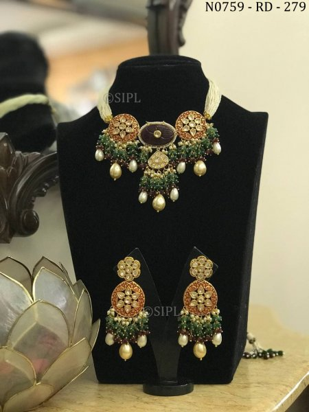 Beautiful Indian Traditional Necklace Set