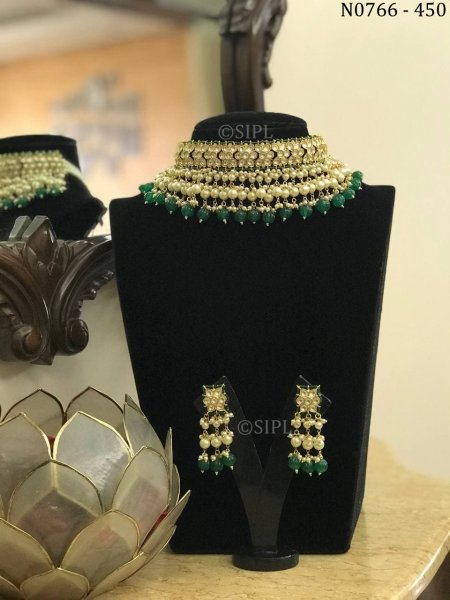 Amazing Kundan Polki Designer Necklace Set