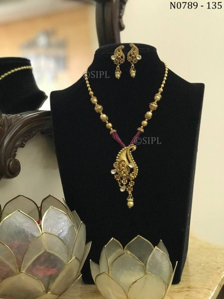 Antique Temple Jewellery Designer Necklace Set
