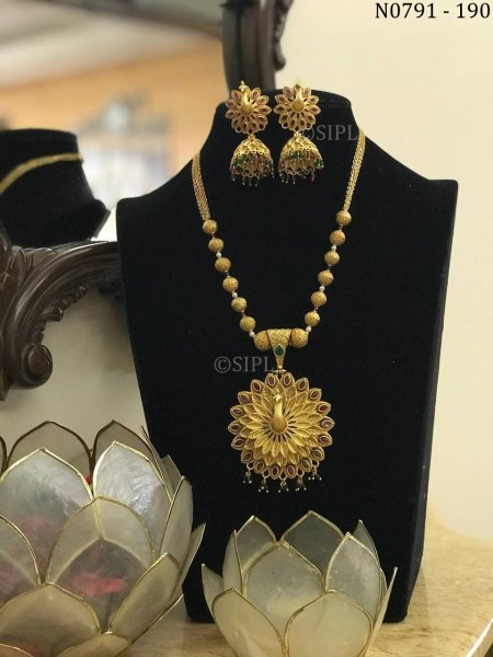 Amazing Peacock Design Southern Style Necklace Set