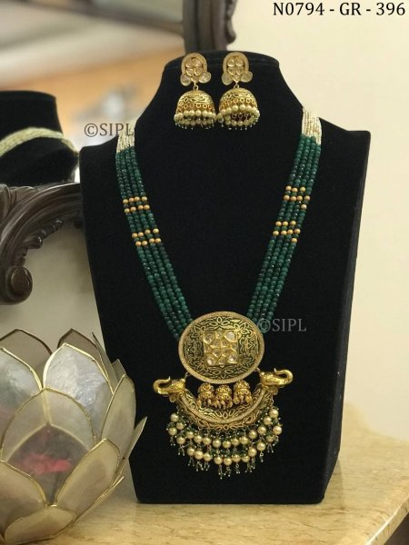 Amazing Design Kundan Polki Long Neckace Set