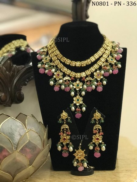 Amazing Design Kundan Meenakari Necklace Set