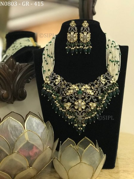 Exclusive Designer Kundan Polki Necklace Set