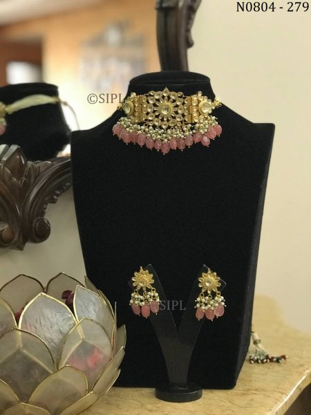 Amazing High Quality Polki Choker Set