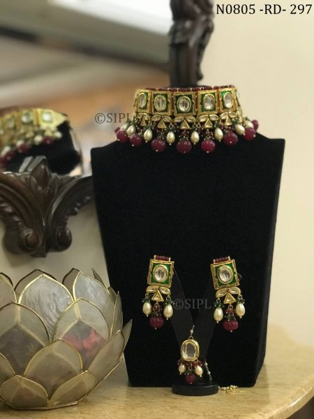Royal Indian Traditional Wedding Necklace Set
