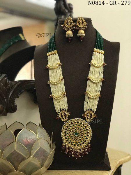Designer Ethnic Look Kundan Long Necklace Set