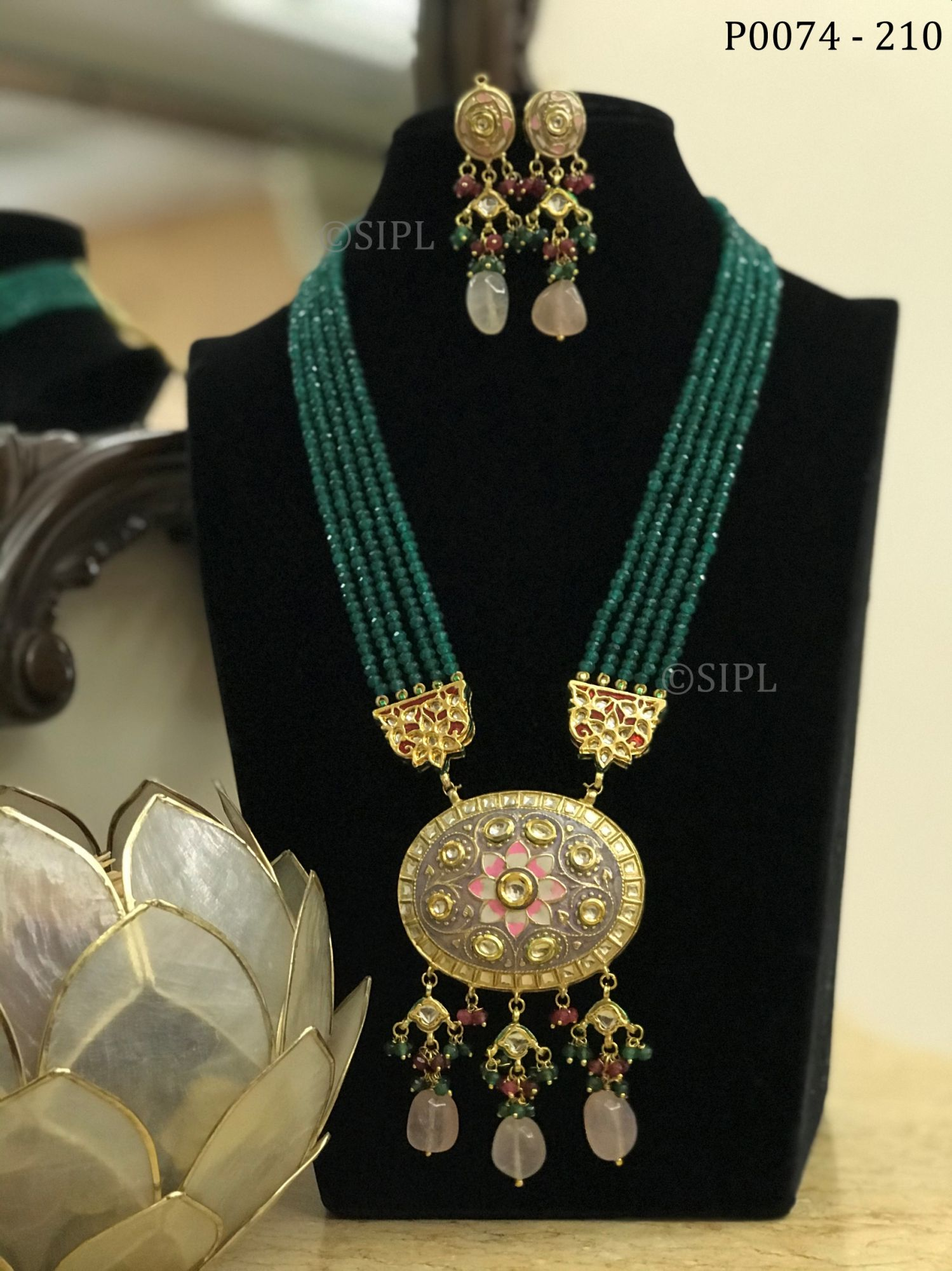 Beautiful Tanjore Style Pendant Set